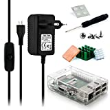 Aukru Micro USB 5V 3000mA Cargador con Interruptor +Transparente Caja +...
