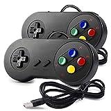 miadore 2x Nueva Retro USB para Súper SNES controlador Mando de juegos...
