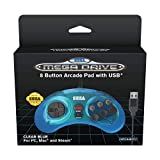 Retro-Bit Official SEGA Mega Drive 8-button Arcade USB Pad Blue [Importación...