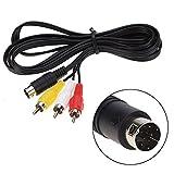 Childhood 1.8m Audio Video Cable de cable AV 9Pin a RCA Cable de conexión para...
