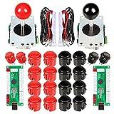 EG STARTS 2 jugadores Arcade Game Kit Piezas USB Pc Joystick para Mame Game DIY...
